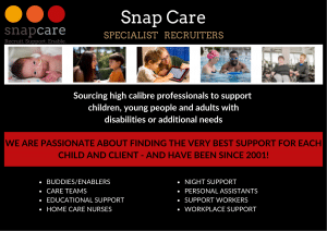 Snap Care brochure cover